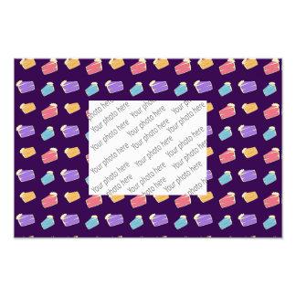 purple cake pattern art photo