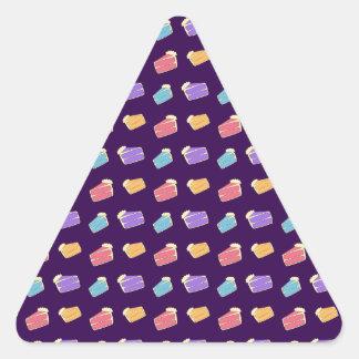 purple cake pattern triangle stickers