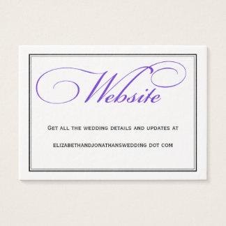 Purple Calligraphy Wedding Website Information