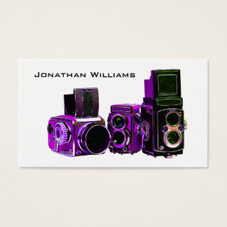Purple Camera Photography Business Cards