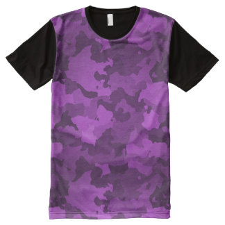 Purple Camo All-Over Print T-Shirt