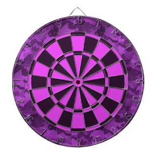 Purple Camo Dartboards