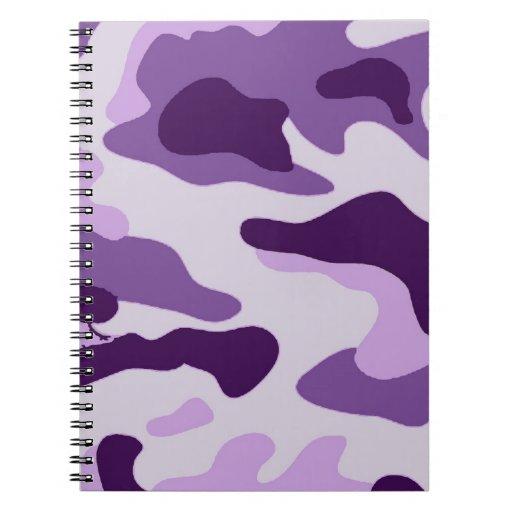 Purple camo design notebook