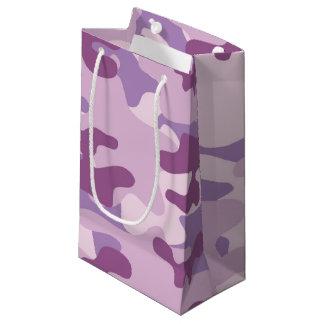 Purple Camo Design Small Gift Bag