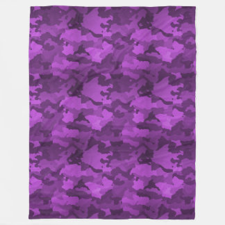 Purple Camo Fleece Blanket