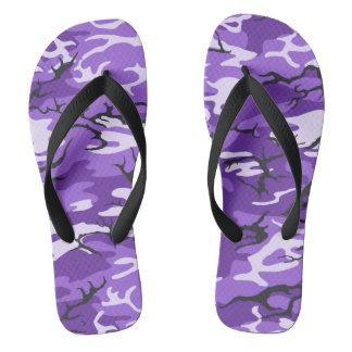 Purple Camo Flip Flops