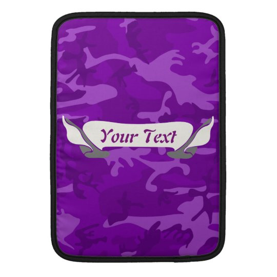 Purple Camo MacBook Sleeve