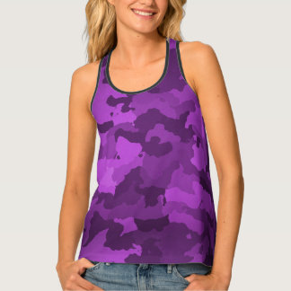 Purple Camo Tank Top