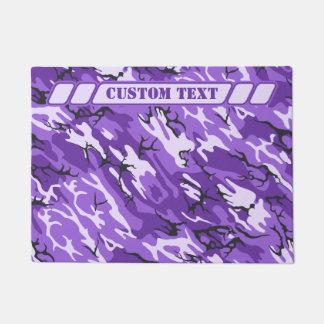 Purple Camo with Custom Lettering Doormat