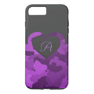 Purple Camo with Customizable Monogram iPhone 8 Plus/7 Plus Case
