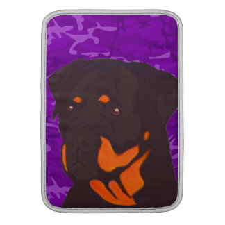 Purple Camo with Rottweiler Sleeve For MacBook Air