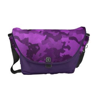 Purple Camouflage Messenger Bag