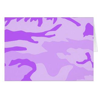 Purple Camouflage Pattern Card