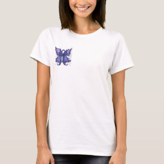 Purple Cancer Ribbon with Butterfly Wings T-Shirt
