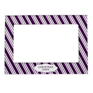 Purple Candy Cane Magnetic Frame