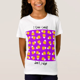 Purple Candy Corn Halloween Girls t-shirt