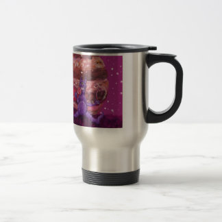 Purple Candy eating Cyclops Over jupiter Stainless Steel Travel Mug