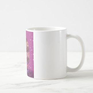 Purple Candy eating Cyclops Over jupiter Basic White Mug