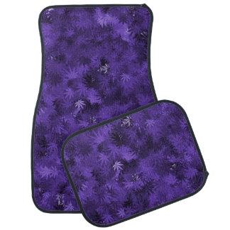 Purple Cannabis Leaf Pattern Car Mat