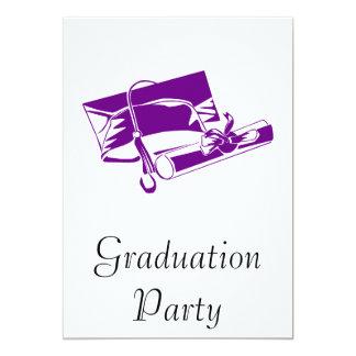 Purple Cap & Diploma Invitations