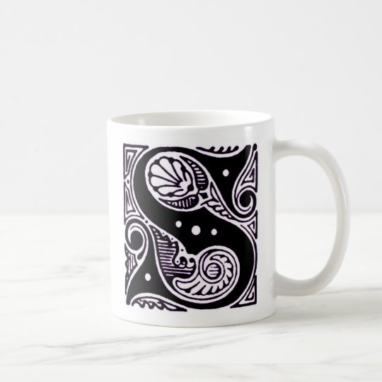 Purple Capital letter 'S' - Mug