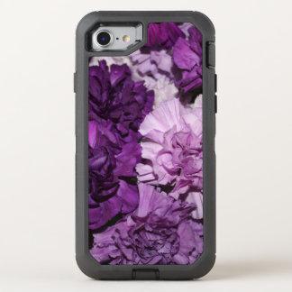 Purple Carnation Flowers OtterBox Defender iPhone 7 Case