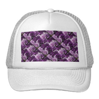 Purple Carnations Floral Bouquet Trucker Hat
