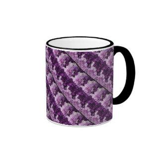 Purple Carnations Floral Bouquet Ringer Mug
