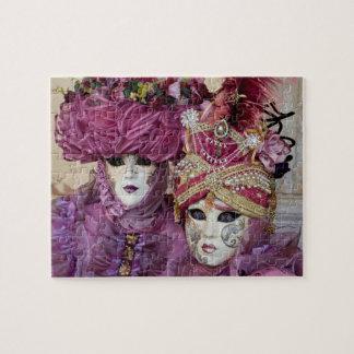 Purple Carnival costume, Venice Jigsaw Puzzle