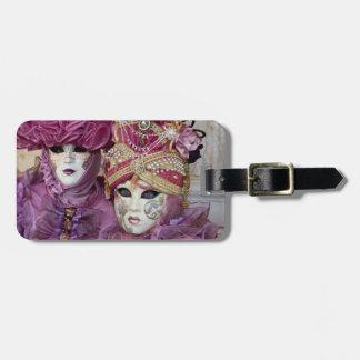 Purple Carnival costume, Venice Luggage Tag
