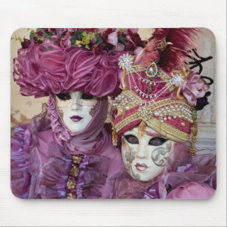 Purple Carnival costume, Venice Mouse Pad