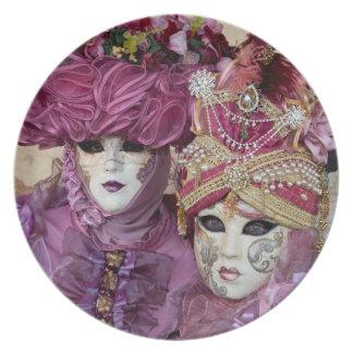 Purple Carnival costume, Venice Plate