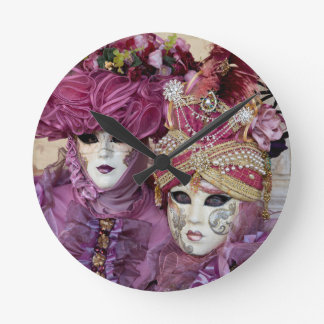 Purple Carnival costume, Venice Wallclock