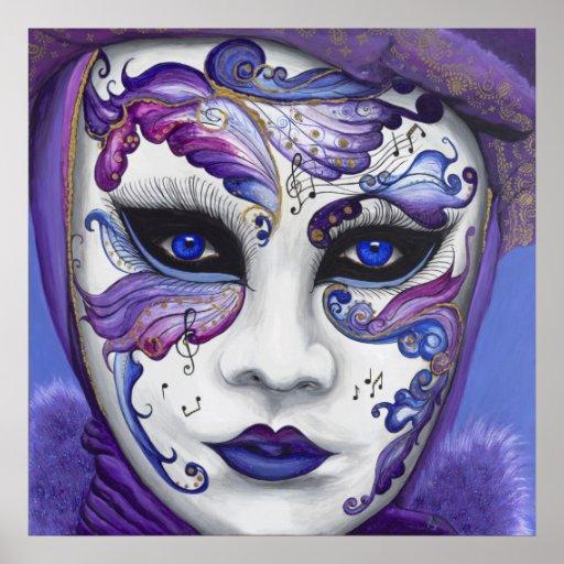 Purple Carnival Mask Poster