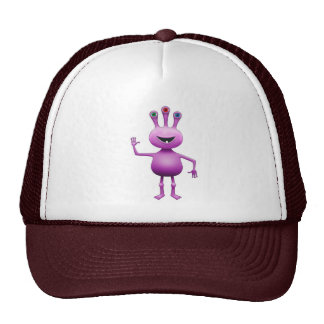 Purple Cartoon Alien Hat