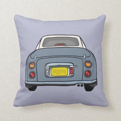 Purple cartoon car pillow cushion