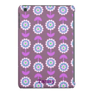 Purple Cartoon Flowers iPad Mini Cover