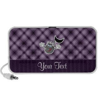 Purple Cartoon Music Note Notebook Speakers