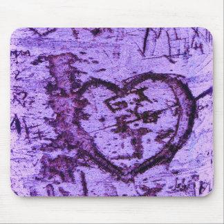 Purple Carved Tree Trunk Grafitti Mouse Mats