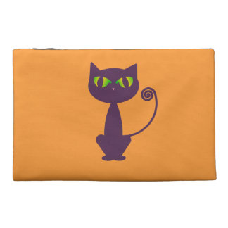 Purple Cat Travel Accessory Bag