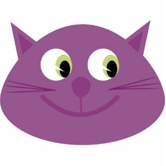 Purple cat brooch cut out