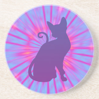 Purple Cat Coaster