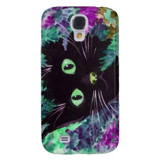 (Purple Cat Galaxy S4 Case