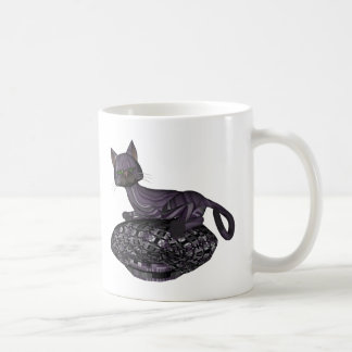 Purple Cat Napping Mug