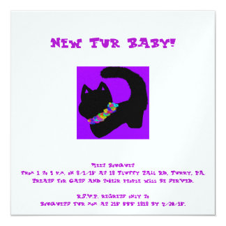 purple cat new pet invite