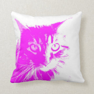 purple cat pillow  available on all styles