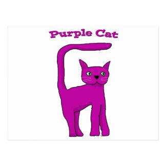 Purple Cat Postcard