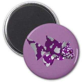 Purple Catfish 6 Cm Round Magnet