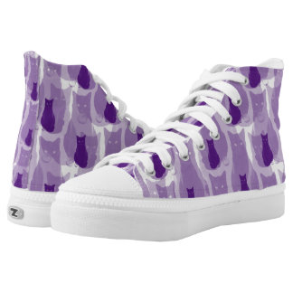 Purple Cats High Tops