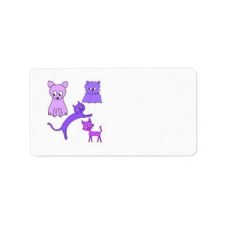 Purple Cats. Label